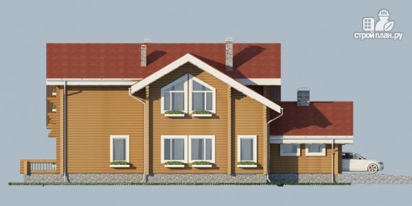 Фото 4: проект деревянный дом с балконом, террасой и зимним садом
