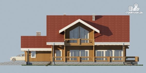 Фото 7: проект деревянный дом с балконом, террасой и зимним садом