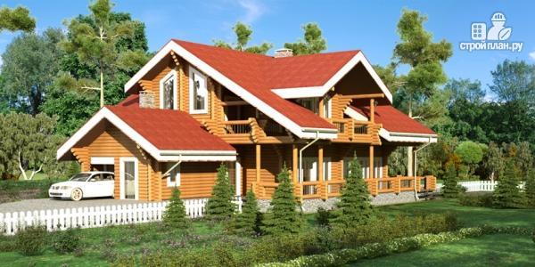 Фото 8: проект деревянный дом с балконом, террасой и зимним садом