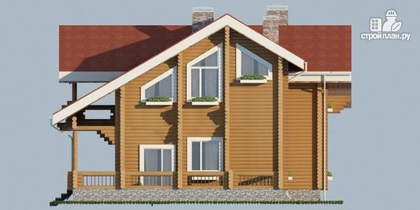 Фото 5: проект деревянный дом с балконом, террасой и зимним садом