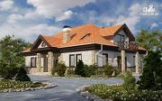 Фото: каркасный спаренный дом с террасами и балконами