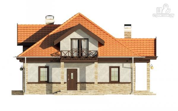 Фото 6: проект каркасный спаренный дом с террасами и балконами
