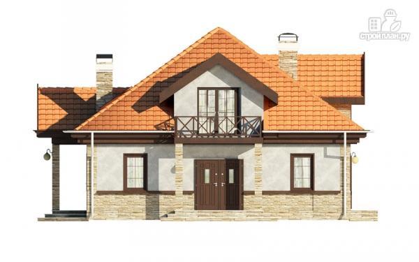 Фото 4: проект каркасный спаренный дом с террасами и балконами