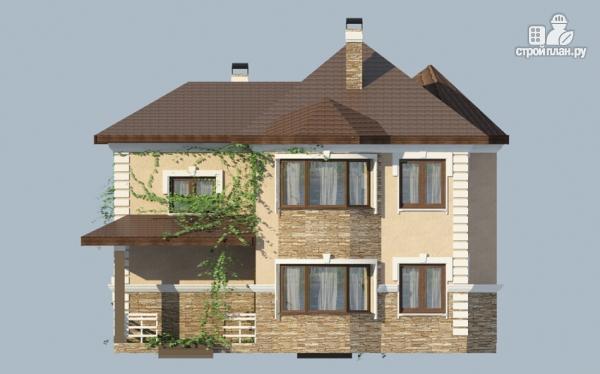 Фото 5: проект двухэтажный дом из газобетона с террасой и гаражом