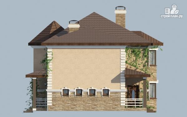 Фото 4: проект двухэтажный дом из газобетона с террасой и гаражом