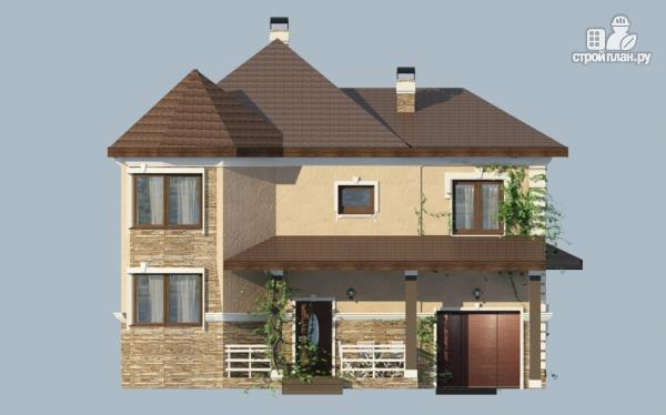 Фото 8: проект двухэтажный дом из газобетона с террасой и гаражом