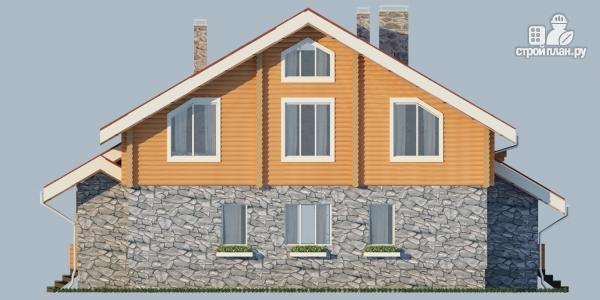 Фото 7: проект комбинированный дом с балконом, террасой и сауной