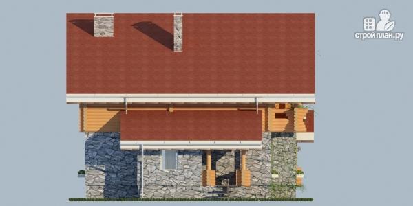 Фото 5: проект комбинированный дом с балконом, террасой и сауной