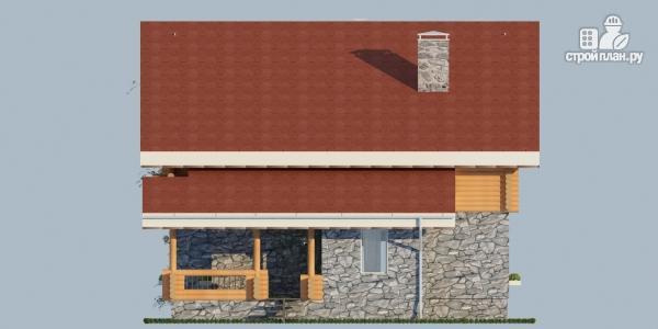 Фото 6: проект комбинированный дом с балконом, террасой и сауной