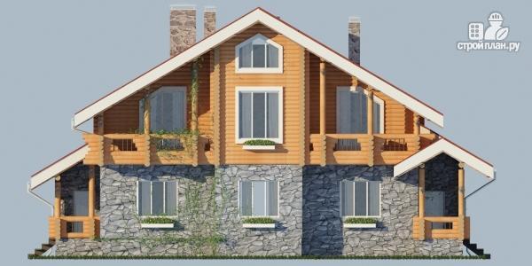 Фото 4: проект комбинированный дом с балконом, террасой и сауной