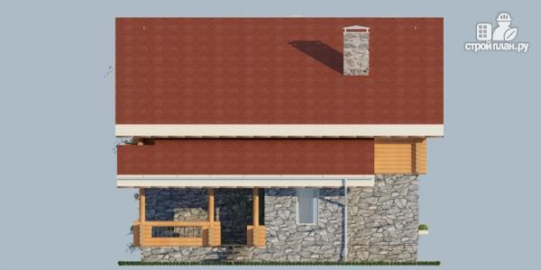Фото 6: проект дом с балконом, террасой и сауной