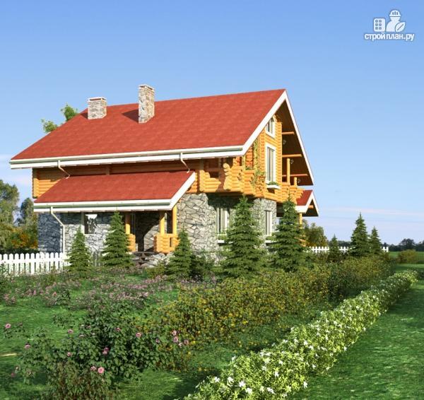 Фото 8: проект дом с балконом, террасой и сауной