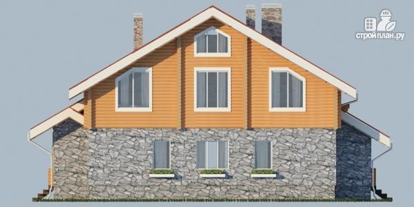 Фото 9: проект дом с балконом, террасой и сауной