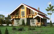 Проект дом с балконом, террасой и сауной