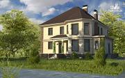 Фото: двухэтажный дом из газобетона с эркером