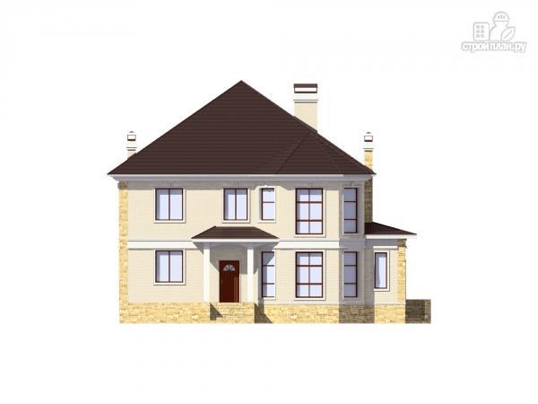 Фото 4: проект двухэтажный дом из газобетона с камином