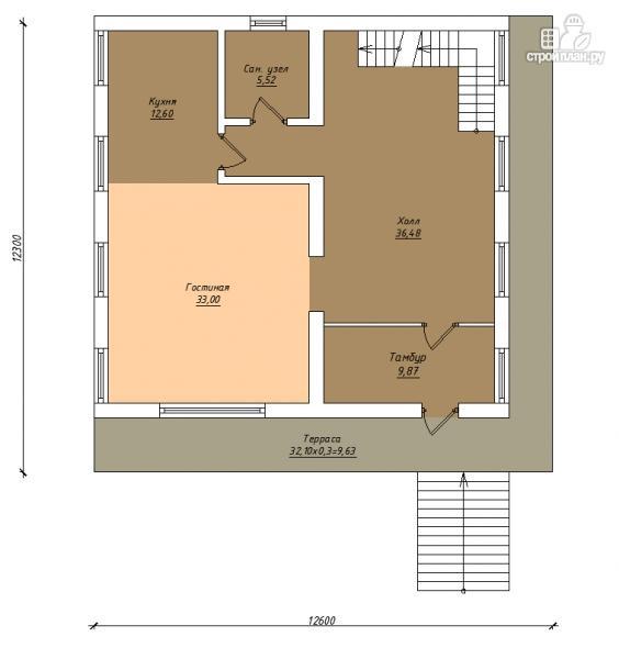 Фото 3: проект трехэтажный комбинированный дом с сауной и бассейном
