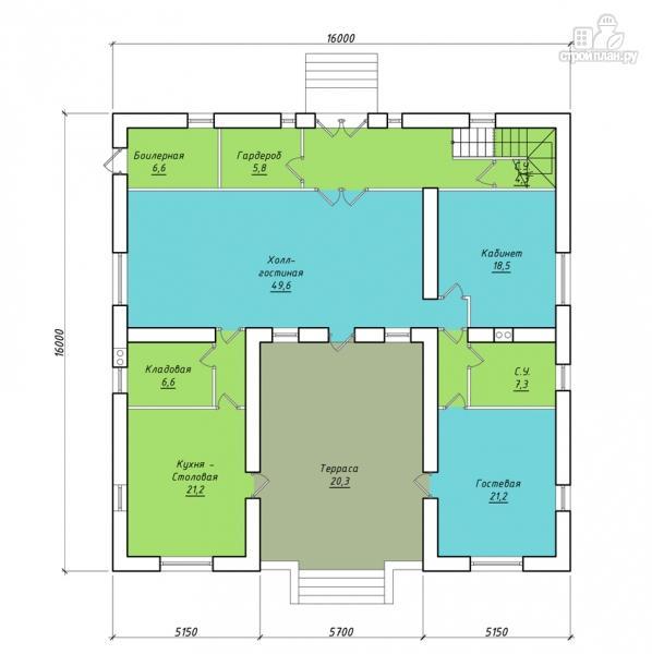 Фото 2: проект загородный особняк с террасами на втором этаже