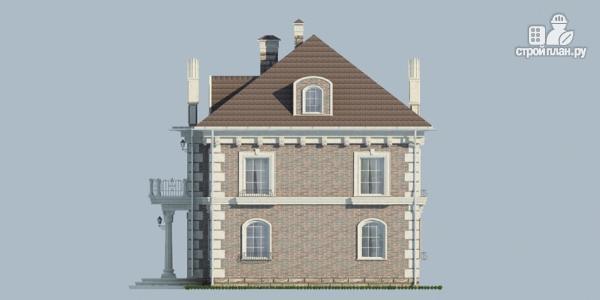 Фото 5: проект особняк из газобетона с парадным крыльцом и балконом