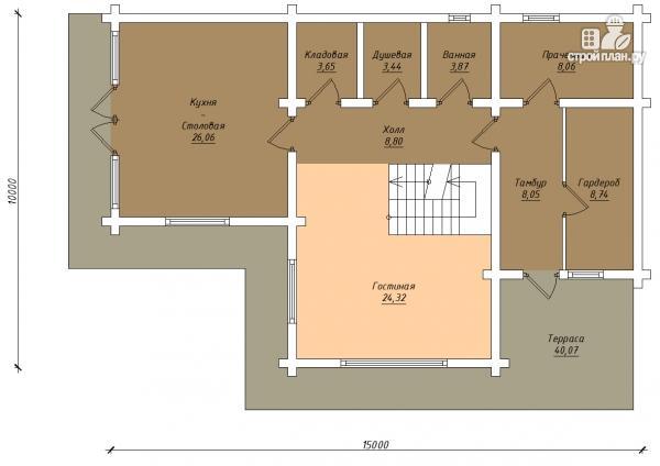Фото 3: проект трёхэтажный комбинированный дом с террасами и балконом