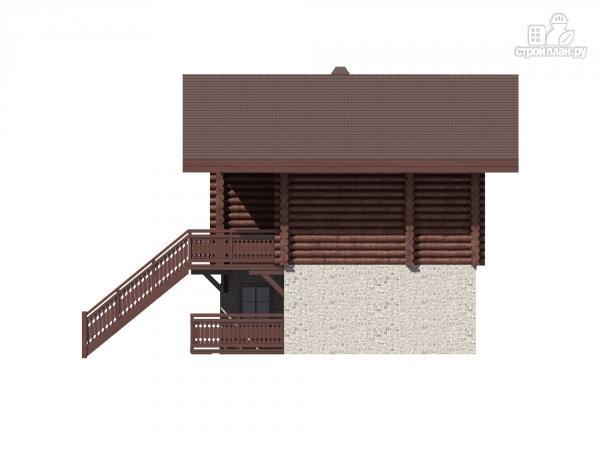 Фото 6: проект трёхэтажный комбинированный дом с террасами и балконом