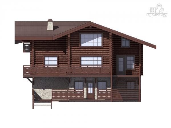 Фото 5: проект трёхэтажный комбинированный дом с террасами и балконом
