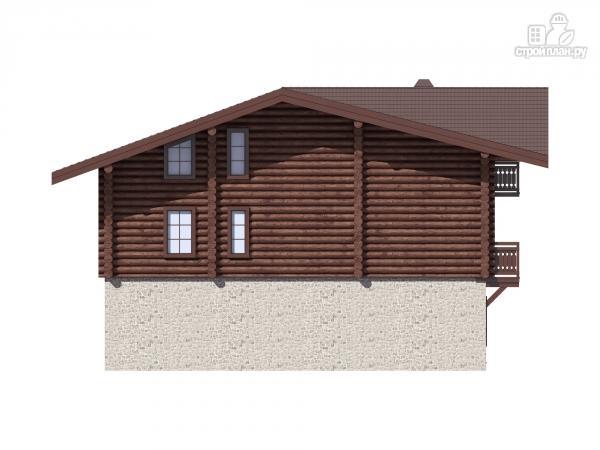 Фото 7: проект трёхэтажный комбинированный дом с террасами и балконом