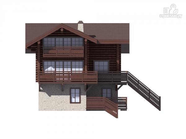 Фото 8: проект трёхэтажный комбинированный дом с террасами и балконом