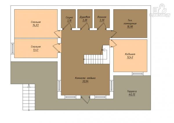 Фото 2: проект трёхэтажный комбинированный дом с террасами и балконом