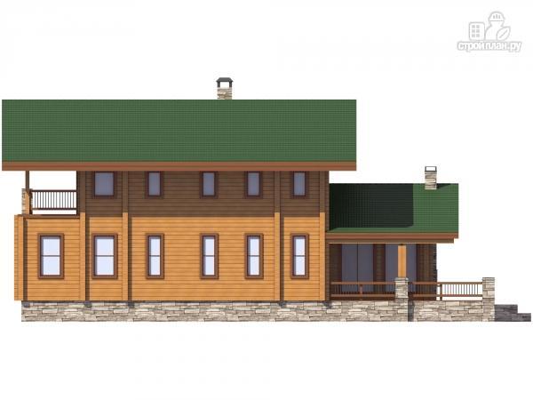 Фото 6: проект дом из бруса с балконом и террасой