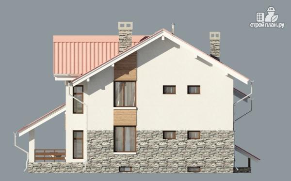 Дом из газобетона с балконом и террасой, проект 318/112.