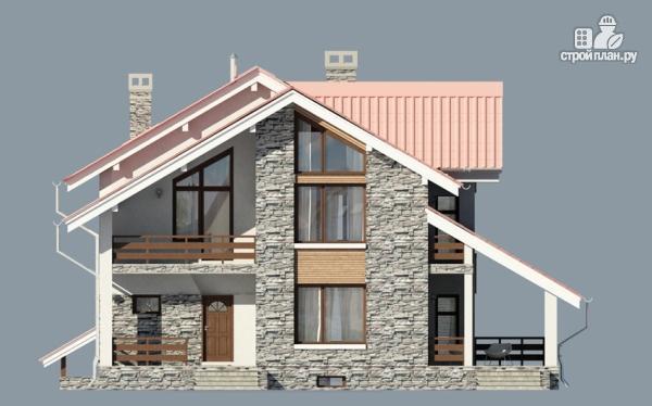 Фото 5: проект дом из газобетона с балконом и террасой