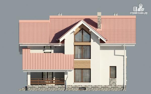 Фото 7: проект дом из газобетона с балконом и террасой