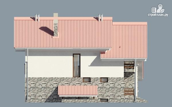 Фото 6: проект дом из газобетона с балконом и террасой