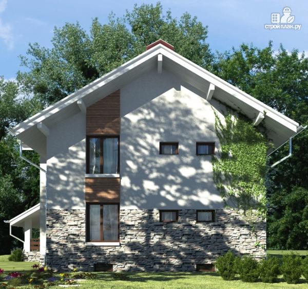 Фото 8: проект дом из газобетона с балконом и террасой