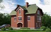 Проект трехэтажный дом с сауной