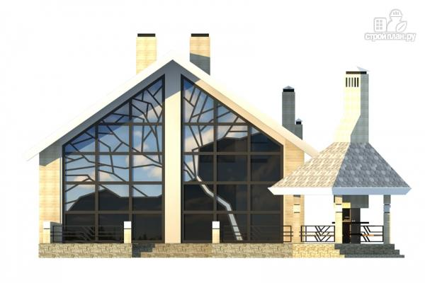 Фото 5: проект дом из газобетона со вторым светом и террасой для барбекю