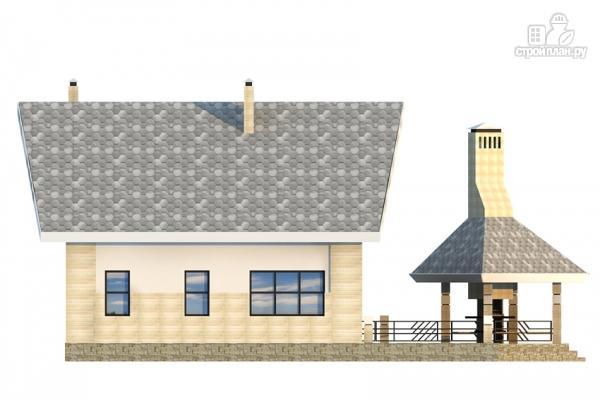 Фото 7: проект дом из газобетона со вторым светом и террасой для барбекю