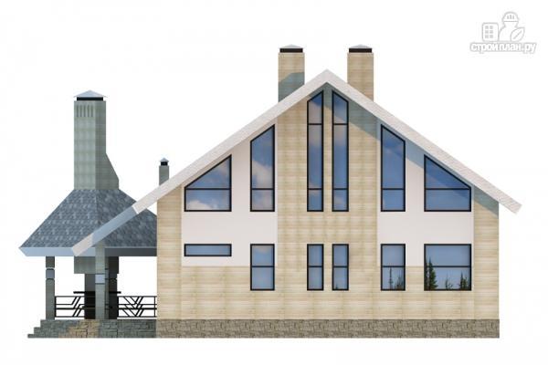 Фото 4: проект дом из газобетона со вторым светом и террасой для барбекю
