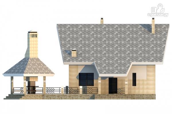 Фото 6: проект дом из газобетона со вторым светом и террасой для барбекю