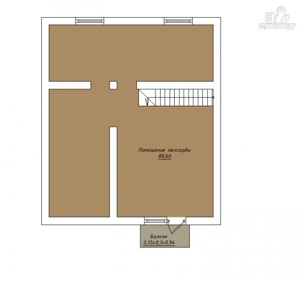 Фото 4: проект трехэтажный комбинированный дом с террасами и балконом