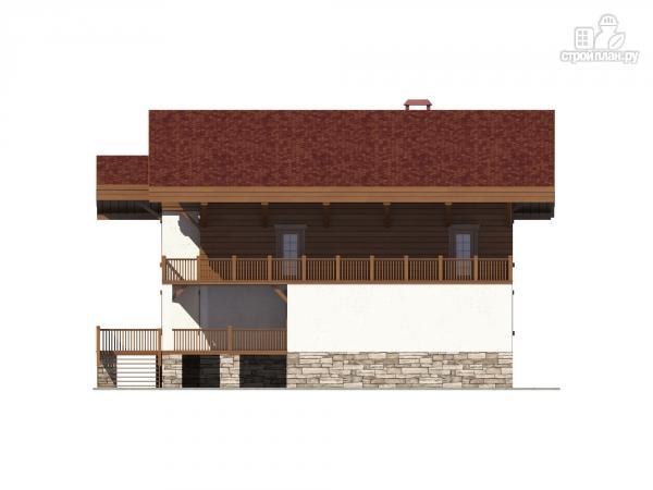 Фото 6: проект трехэтажный комбинированный дом с террасами и балконом