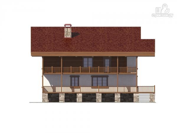 Фото 8: проект трехэтажный комбинированный дом с террасами и балконом