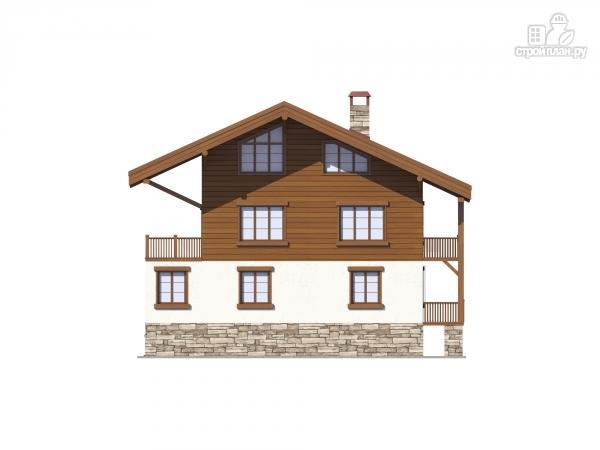 Фото 7: проект трехэтажный комбинированный дом с террасами и балконом