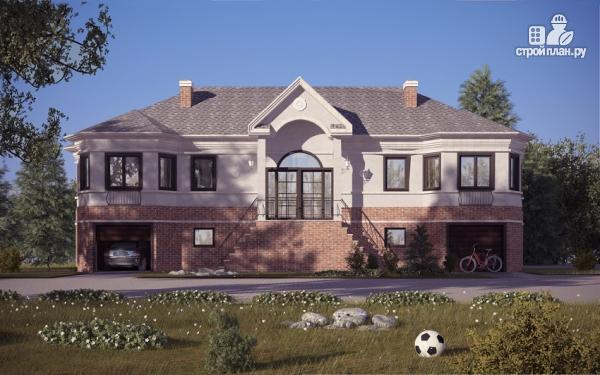 Фото: проект дом на две семьи с раздельными гаражами
