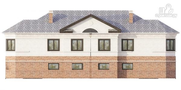 Фото 4: проект дом на две семьи с раздельными гаражами