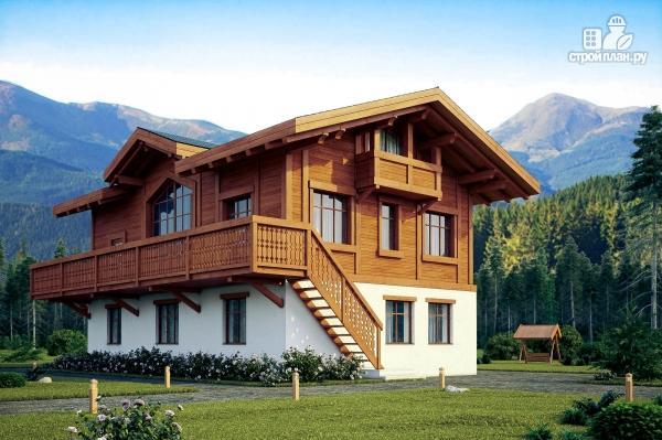 Фото: проект комбинированный дом из монолита и каркаса
