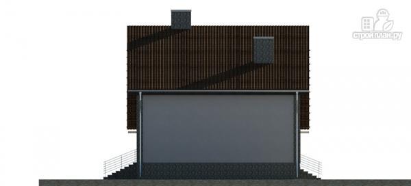 Фото 8: проект трехэтажный дом с сауной, гаражом и навесом для машины