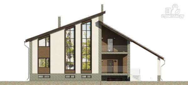 Фото 7: проект трехэтажный дом с сауной, гаражом и навесом для машины
