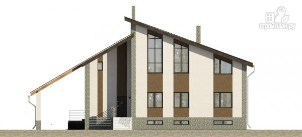 Фото 5: проект трехэтажный дом с сауной, гаражом и навесом для машины